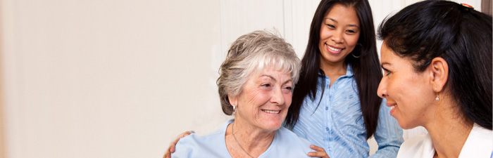 home care patient with aide